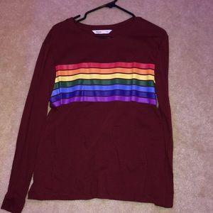 Long sleeve rainbow shirt!!